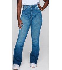 high waist curve bootcut jeans - blå