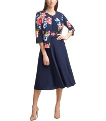 jessica howard floral-print jacket dress