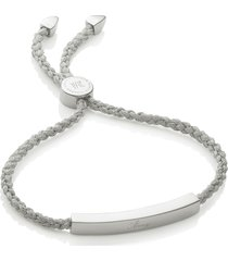 women's monica vinader engravable linear friendship bracelet