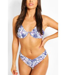 snake mono wire high leg bikini, brown