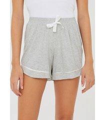 short de pijama liso com amarração