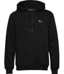 new standard hoodie badge hoodie trui zwart mads nørgaard