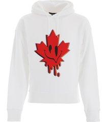 dsquared2 maple leaf hoodie