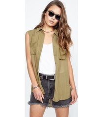 samson sleeveless top - l army
