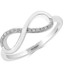 effy novelty diamond and 14k white gold infinity ring/size 7 - size 7