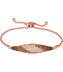 le vian chocolate soufflee diamond bolo bracelet (1-5/8 ct. t.w.) in 14k rose gold