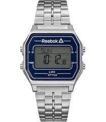 reloj plateado reebok nerd vintage digital
