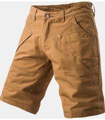 uomo shorts in cotone regular fit primaverili estivi in colore a tinta unita