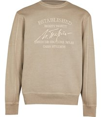 river island mens beige 'casa studios' washed sweatshirt