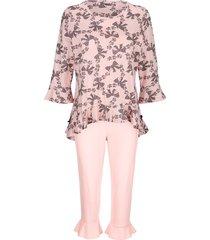 pyjama simone roze::grijs