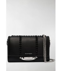 alexander mcqueen braided-detail shoulder bag