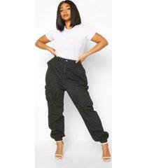 plus utility spijkerbroek, zwart