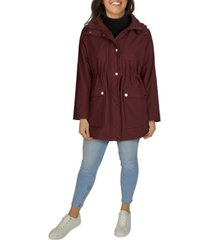 kenneth cole women's plus size hooded anorak rain coat