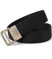 cinturón de hombres, cinturón de lona de doble-negro