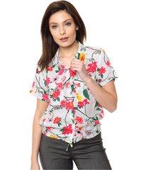 camisa natural odas flores