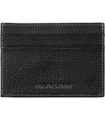 men's johnston & murphy leather card case - black