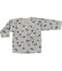 camiseta manga larga estampado castores santana
