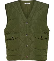 gianna waist coat vests padded vests groen nué notes