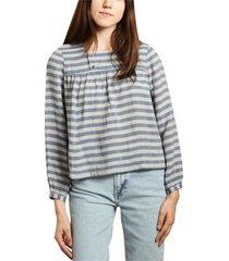 aziza micro striped blouse