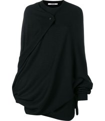 chalayan cape knitted top - black
