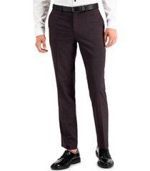 inc international concepts men's slim-fit purple plaid suit pants, created for macy's