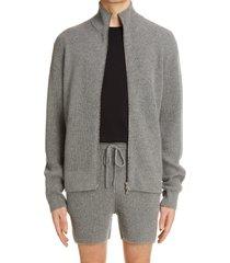 dries van noten taipas zip alpaca blend sweater, size medium in grey at nordstrom