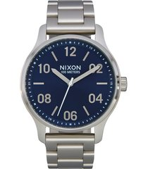 men's nixon patrol bracelet watch, 44mm