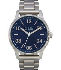 men's nixon patrol bracelet watch, 44mm
