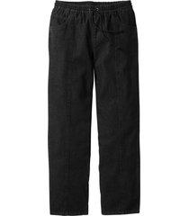 pantaloni con elastico in vita classic fit straight (nero) - bpc bonprix collection