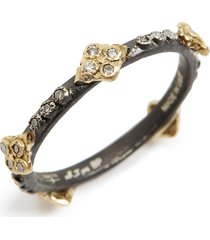 women's armenta old world crivelli diamond stack ring