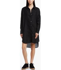 linen shirt dress