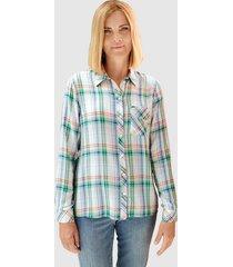 blouse paola offwhite::ijsblauw