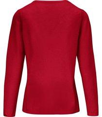 trui van scheerwol en kasjmier met ronde hals van include rood