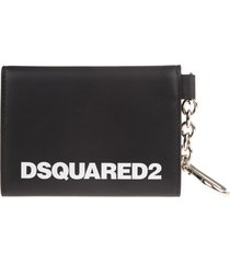 black woman card holder with white logo and internal mirror