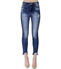 calça jeans bia barra assimétrica colcci feminina
