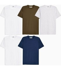 mens 5 assorted colour t-shirt multipack*