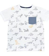 camiseta samuel manga corta con bolsillo y estampado