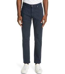 men's ermenegildo zegna classic fit stretch cotton five pocket pants, size 42 - blue