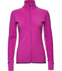 wmns descender ls zip sweat-shirt trui roze icebreaker