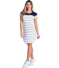 vestido corto para mujer bicolor mp