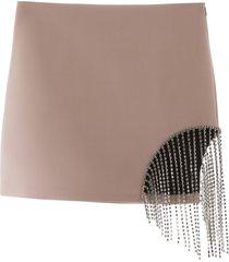 area crystal mini skirt