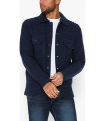 selected homme slhneal workwear cardigan w tröjor mörk blå