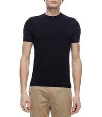 giorgio armani t-shirt giorgio armani crew-neck t-shirt in basic stretch viscose jersey