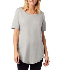 alternative apparel organic cotton half sleeve women's tunic