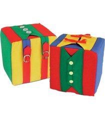 cubo de atividades 1 cubo 16x16x16cm para 6 atividades - multicolorido/verde - dafiti