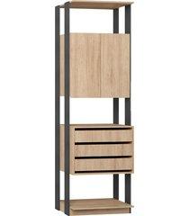 estante armário/gaveteiro carvalho mel/expresso be mobiliário