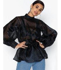 nly trend volume organza blouse festblusar