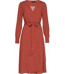 aurélie wrap dress knälång klänning brun morris lady