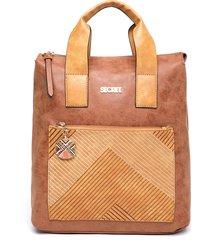 mochila backpack l goa marrón secret by saxoline