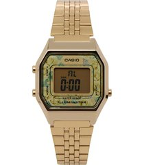 reloj casio la-680wga-9c digital 100% original-amarillo